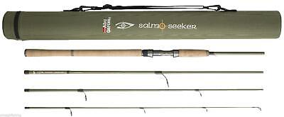 Abu Garcia Salmo Seeker 4 Piece Spinning Rod*3 Sizes 8ft,9ft,10ft*Trout Salmon
