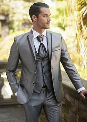 2017 Custom Made Men's Wedding Suits Groom Tuxedos Formal Business Suits Blazers