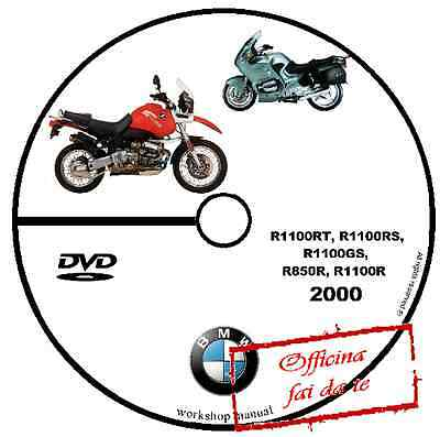 Manuale Officina Bmw R1100Rt R 1100 Rs Gs R850 R 850 2000 Workshop Manual Cd Dvd
