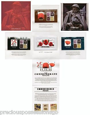Royal Mail Lest We Forget Commemorative Pack Miniature Sheet Collection