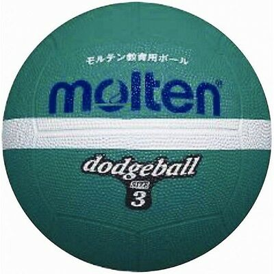 Molten Official Green White Rubber Gripped Green Dodge Ball Size 3