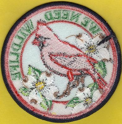 Pa Pennsylvania Game Commission White Back WTFW We Need Wildlife Cardinal Patch