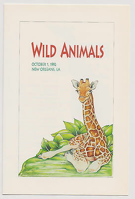 US FDC 1992 Wild Animals 5 Stamps Booklet First Day Ceremony Program  |