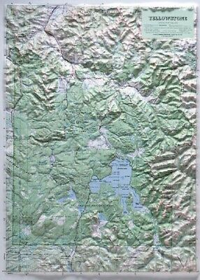 Yellowstone National Park Raised Relief Map