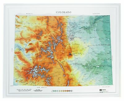Colorado State Raised Relief Map Raven Style