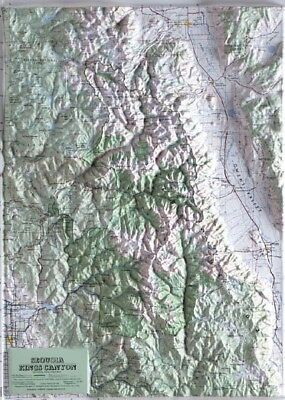 Sequoia-Kings Canyon National Park Raised Relief Map
