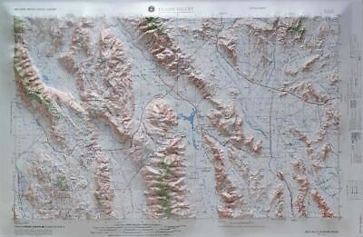 Death Valley USGS Regional Raised Relief Map in the state of CA