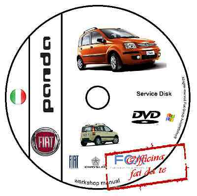 Manuale Officina Fiat Nuova Panda Workshop Manual Service Cd Dvd Software Elearn