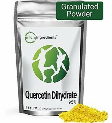 Micro Ingredients Pure Quercetin Dihydrate 95% Powder - Support Cadiovascular /