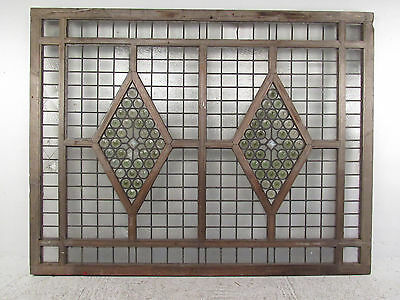 Large Antique Vintage Stained Glass Window (1285)NJ