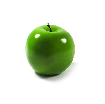 Artificial Granny Smith Apple Large - Plastic Fruit Round Green Apples Fake