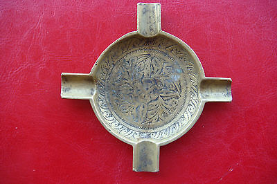 Rare Old Antique Handmade Bronze Made In India Ashtray