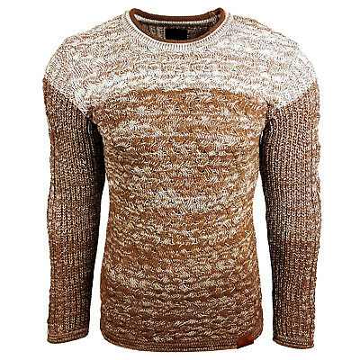 Subliminal Mode - Pull Over Col arrondi Homme Tricot SB-13266 Petite Maille