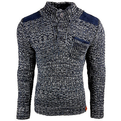 Subliminal Mode - Pull Over Col Montant Homme Tricot SB-13279 Grosse Maille