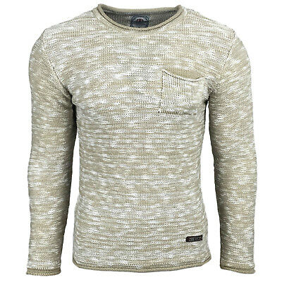Subliminal Mode - Pull Over Col arrondi Homme Tricot SB-17011 Petite Maille