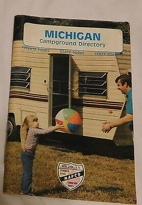 vintage Michigan Campground Directory Booklet,camper camping