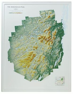 Adirondack State Park (NY State Park) Raised Relief Map
