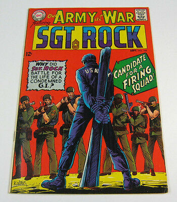Our Army at War #184 Death of Wee Willie,Joe Kubert VF- SGT ROCK DC COMICS 1967