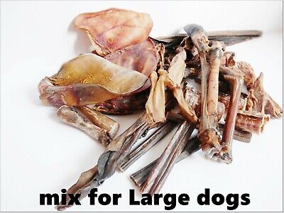 Large Dog 100% NATURAL only MIX PACK - ears,beef tails,hearts,tripe,chicken feet