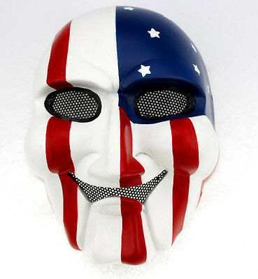 Durable Fiber Resin Mesh Eye Paintball Airsoft Full Protection Saw Mask Props