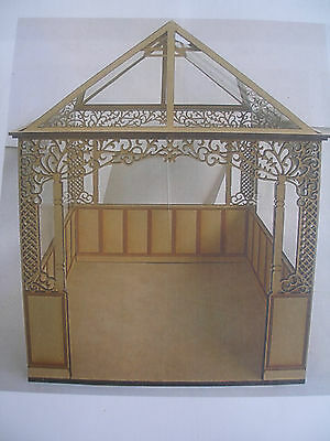 Miniature Dollhouse Conservatory Kit-1:12 Scale Craftwood