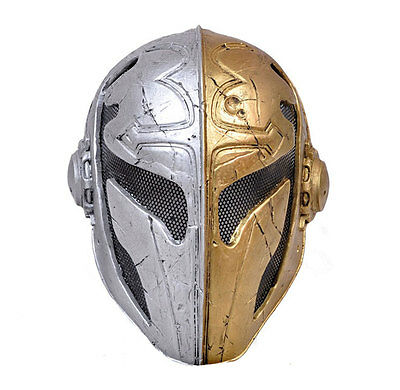 Fiber Resin  Wire Mesh Paintball Airsoft Full Face Protection Templar Mask M1713