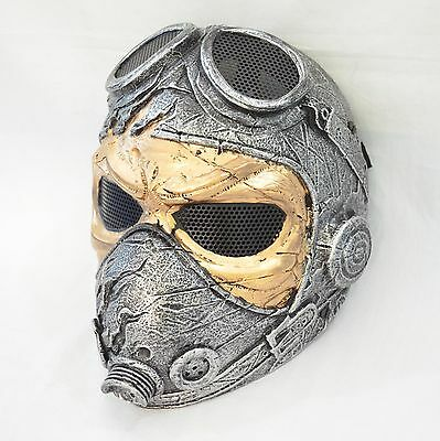 Airsoft Paintball Full Face  Wire Mesh Protection Kamikaze WWII Pilot Mask
