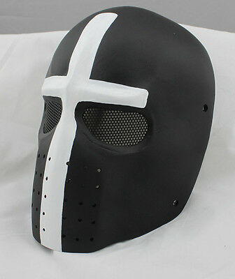 Cross Fiber Resin Wire Mesh Eye Airsoft Paintball Full Face Protection Mask
