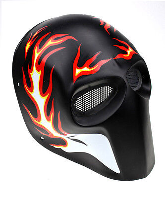 Durable Fiber Resin Wire Mesh Eye Airsoft CS Paintball Full Face Mask PROP