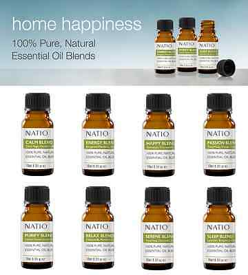 Natio Home Happiness 100% Pure Natural Essential Oil BLENDS 10mL :8 Varieties!: