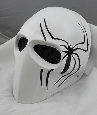 Fiber Resin Wire Mesh Eye Airsoft Paintball Full Face Protection Spider Mask