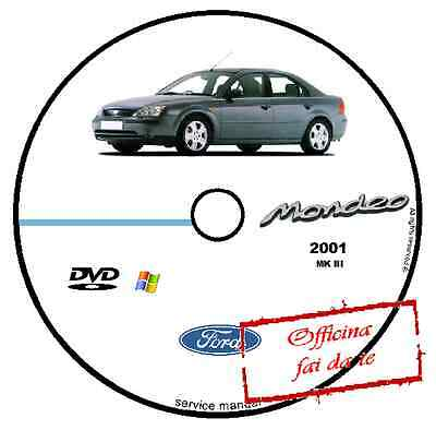 Manuale Officina Ford Mondeo 2001 Workshop Manual Service Cd Dvd