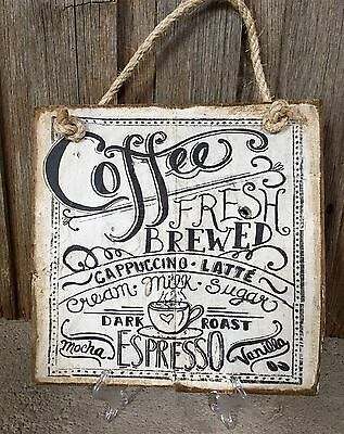 COFFEE H30cm X W30cm - Rustic Vintage Style Timber Sign