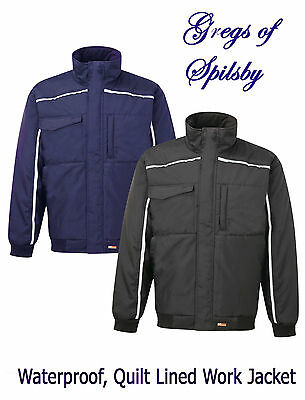 Premium Work Bomber Jacket Waterproof & Windproof With Quilt Lining Sizes S-3XL