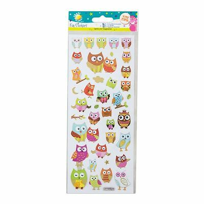 """Craft Planet Fun Foiled Stickers """" Pretty Owls """" For Cards & Craft"""