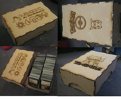 Trading card boxes 250 card storage Strong MDF Images on Pokemon MTG Yugioh