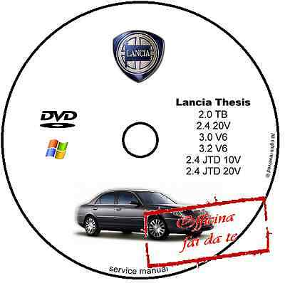 Manuale Officina Lancia Thesis Workshop Manual Service Cd Dvd Software