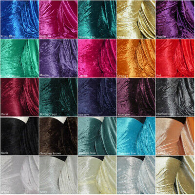 Premium Crushed Velvet Craft Fabric Velour Stretch Material 157cm Wide RM156