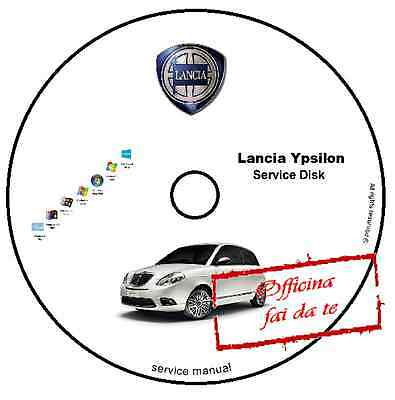Manuale Officina Lancia Ypsilon Workshop Manual Service Cd Dvd Software E-Learn