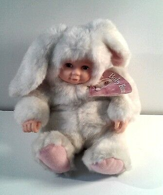 """Anne Geddes Baby Bunny Easter Doll 1998 From The Bean Filled Collection Doll 8"""""""