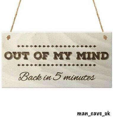 Funny Wooden Hanging Sign - Man Cave - Home Bar - Garden -Office - Novelty Gift