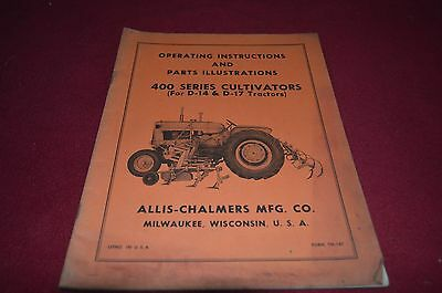 Allis Chalmers 400 Series Cultivator For D14 D17 Operator's Manual DCPA6 ver5