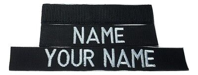 Black Custom NAME TAPE - US ARMY USAF MARINES POLICE Military Tape