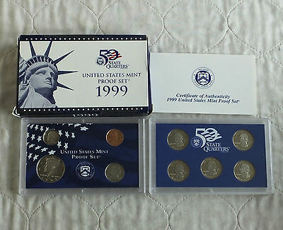 USA 1999 s 9 COIN DOUBLE PROOF YEAR SET - complete