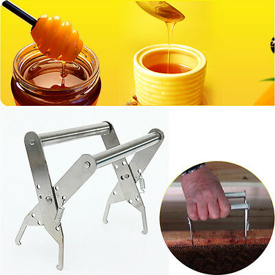 Stainless Steel Beehive Frame Holder Lifter Capture Grip Tool Beekeeping Equipme