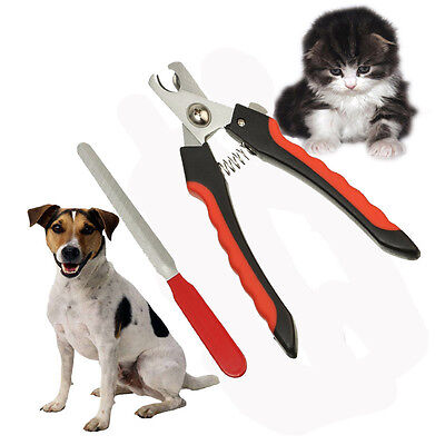 Stainless Steel Pet Dog Cat Nail Toe Trimmer Clipper Grooming Tool Safety Cutter
