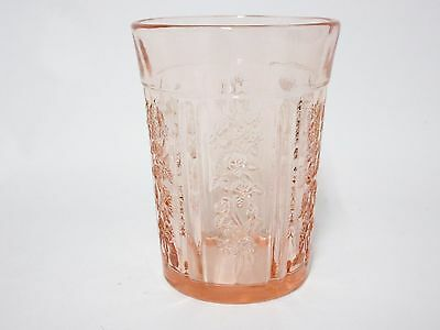 Vintage Pink Sharon Thick Flat Water Tumbler / 13 Available / Federal Glass Co