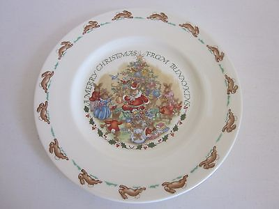 Royal Doulton A Merry Christmas Bunnykins Plate New in box