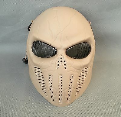 Sand Airsoft Paintball ABS Full Face Protection Skull Mask Simple Practical JD29