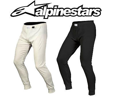Alpinestars Race Nomex Bottoms, FIA Approved Black/White, Fire-retardant